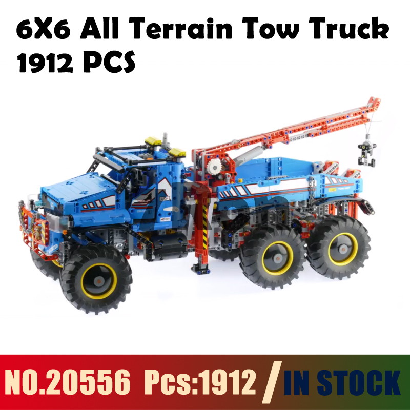 20056 6X6 All Terrain Tow Truck Model building toys hobbies Compatible With lego technic Blocks 42070 Educational DIY Bricks free shipping tow truck diy enlighten block bricks compatible with other assembles particles