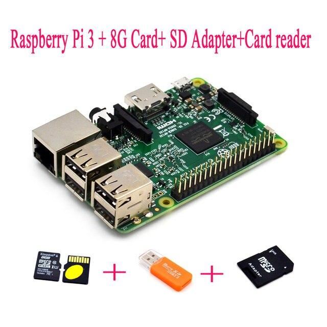 Raspberry Pi 3 + 8 г + SD адаптер + Card Reader Малина комплект