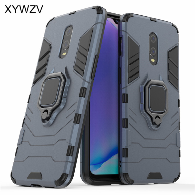 Image 2 - For Oneplus 7 Case Shockproof Cover Hard PC Armor Metal Finger Ring Holder Phone Case For Oneplus 7 6T Cover Oneplus 7 1+7 1+6T-in Fitted Cases from Cellphones & Telecommunications