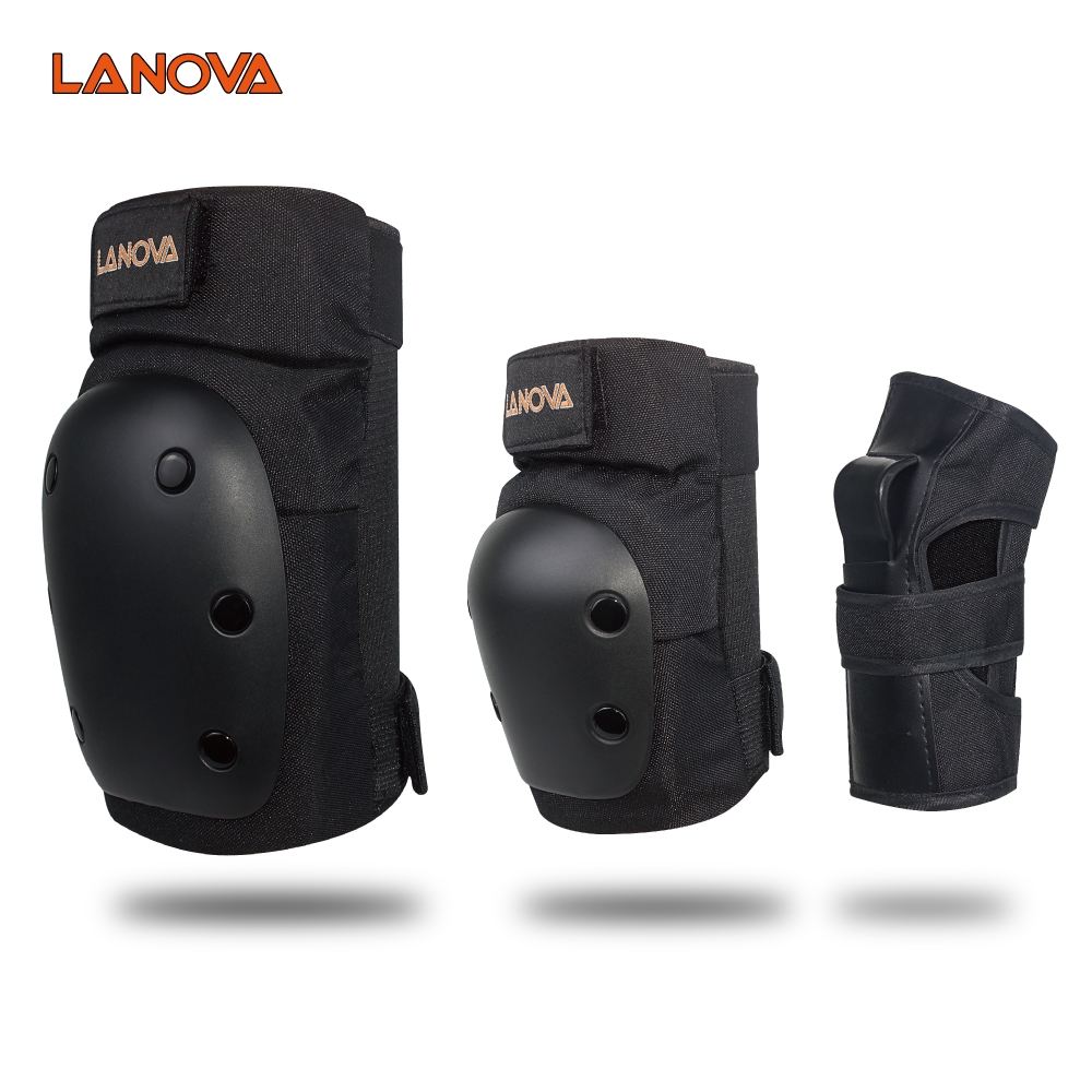 LANOVA 6pcs/Set Protective Patins Set Knee Pads Elbow Pads Wrist Protector Protection For Scooter Cycling Roller Skating 4 Size