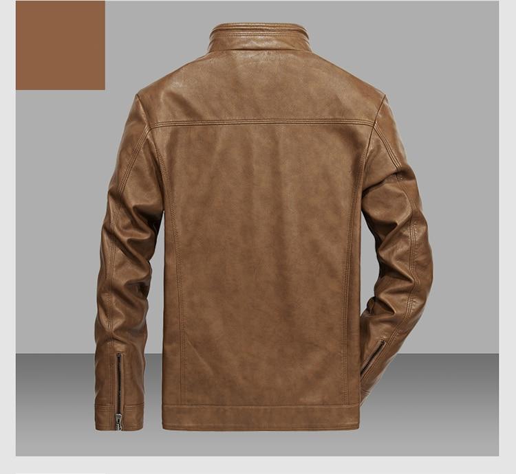 HTB1u14CpHArBKNjSZFLq6A dVXad DAVYDAISY 2019 High Quality PU Leather Jackets Men Autumn Solid Stand Collar Fashion Men Jacket Jaqueta Masculina 5XL DCT-245