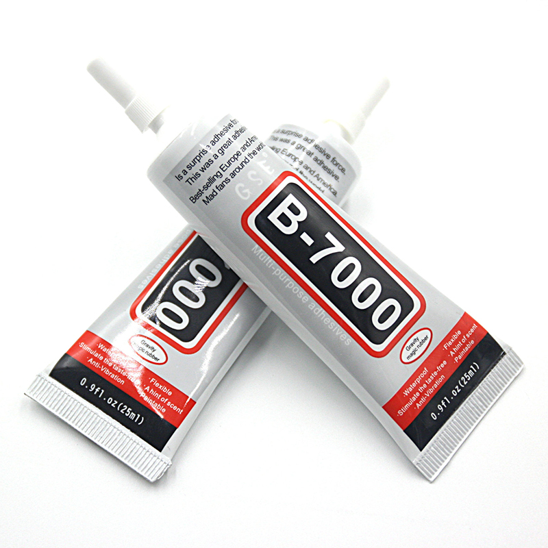 1 PCS Rhinestone Glue B7000 25ML Epoxy Resin Super Glue Sealant For Jewelry Rhinestone Glass Mobile B-7000 Uv Glue Gun image