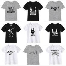 Short Sleeve 2019 summer boys t shirt 100% cotton t-shirt girl tops kids short sleeve child for boy birthday clothing