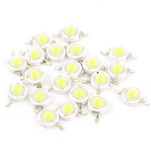 10pcs 1W super bright LED lamp beads 100-120LM white light emitting diode 6000-6500K