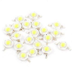 10pcs 1W super bright LED lamp beads 100-120LM white light emitting diode 6000-6500K