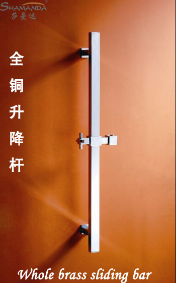 ФОТО Free shipping Bathroom Lift Shower Bar Solid Brass Thicken Chrome Finish shower Sliding bar 23006 Promotions-wholesale