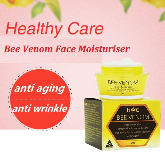Austrália Manuka Honey Bee Venom Rosto Creme Hidratante antioxidante Creme Anti envelhecimento creme Promove A elasticidade da pele Suavizar linhas finas