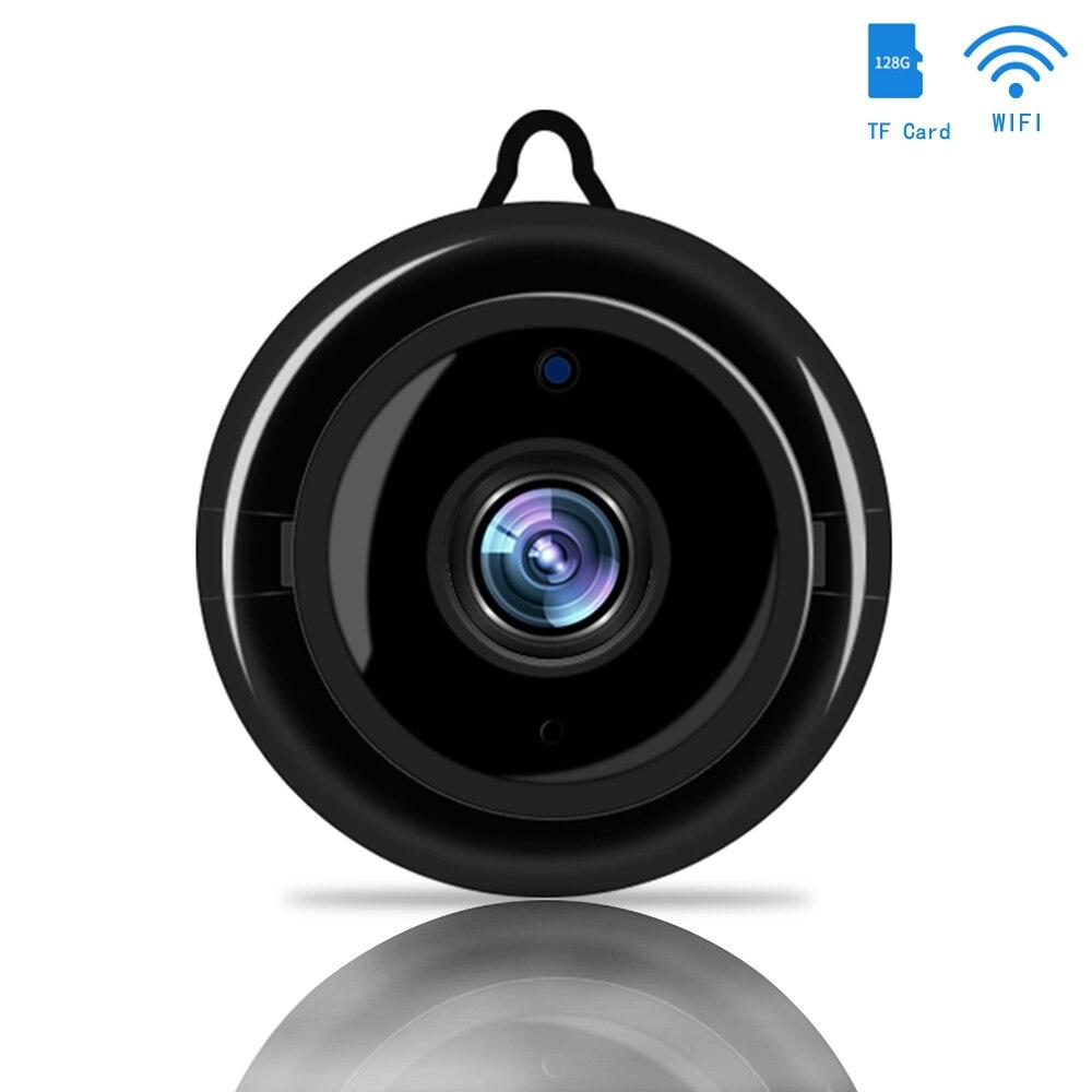 Mini câmera ip sem fio wi fi de segurança em casa inteligente visão noturna infravermelha câmera de vigilância sd cartão armazenamento em nuvem cctv monitor
