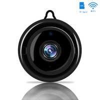 Mini sans fil WIFI IP caméra intelligente sécurité à la maison infrarouge Vision nocturne caméra de Surveillance carte SD stockage en nuage moniteur de vidéosurveillance