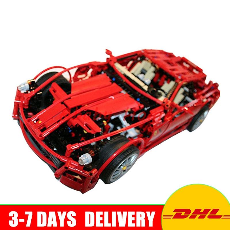 2016 DHL 3333 Building Blocks Toy 1:10 car model Supercar red assemblage Racing brain game Gift
