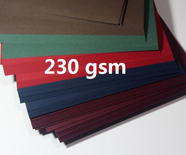A4 Colored Cardstock 230gsm Deep Color Papers For Craft Card Making Red/Blue/Dark Brown/Merlot Red/Deep Green 20 Sheets