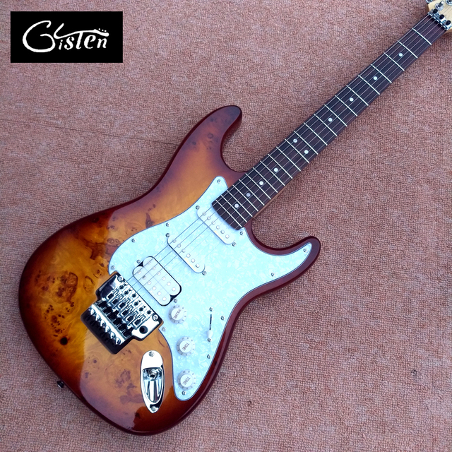 New style high quality custom ST electric guitar, Rosewood fingerboard, tremolo bridge ST electric guitar, free shipping