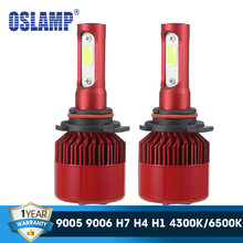 Oslamp LED Headlight Bulbs H7 H11 H1 H3 9012 9005 9006 COB Auto Headlamp 60W 7000lm 6500K/4300K 9007 H13 H4 LED Car Light Bulb(China)