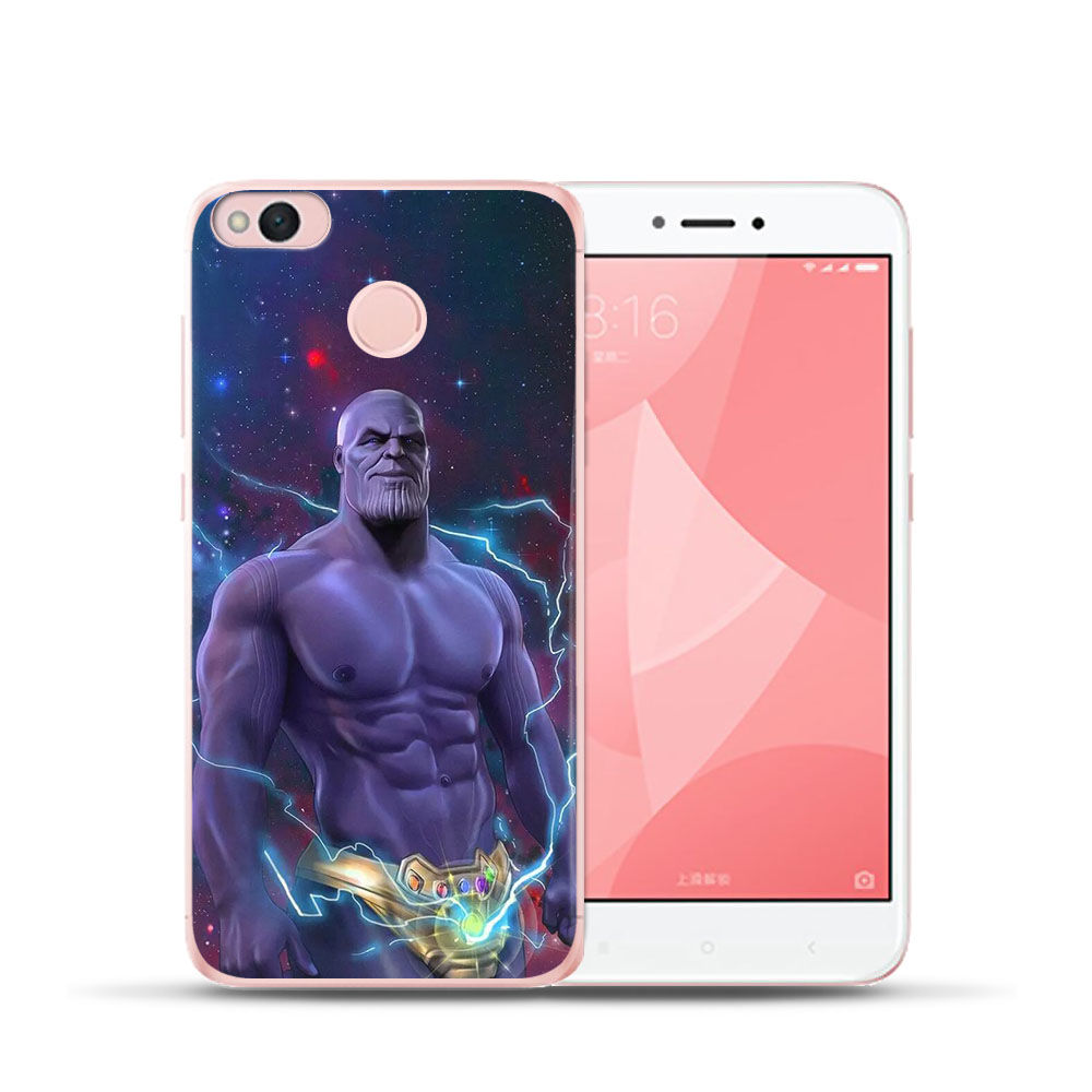 Marvel For Xiaomi MI 8 Redmi Note 5A Phone Case Coque 4X Mi 5X 6 4 4A Deadpool Steven Rogers Cover Soft Silicone Back Fundas in Fitted Cases from Cellphones Telecommunications