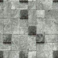 Vinyl 3D Gray Stone Wallpaper Decor Background Old Wall