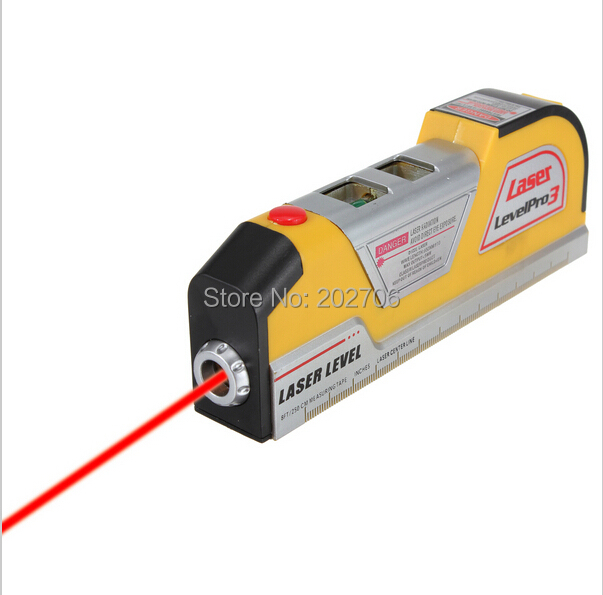 Infrared Laser Level Ruler Horizontal Meter Tape Scale Measure Instrument