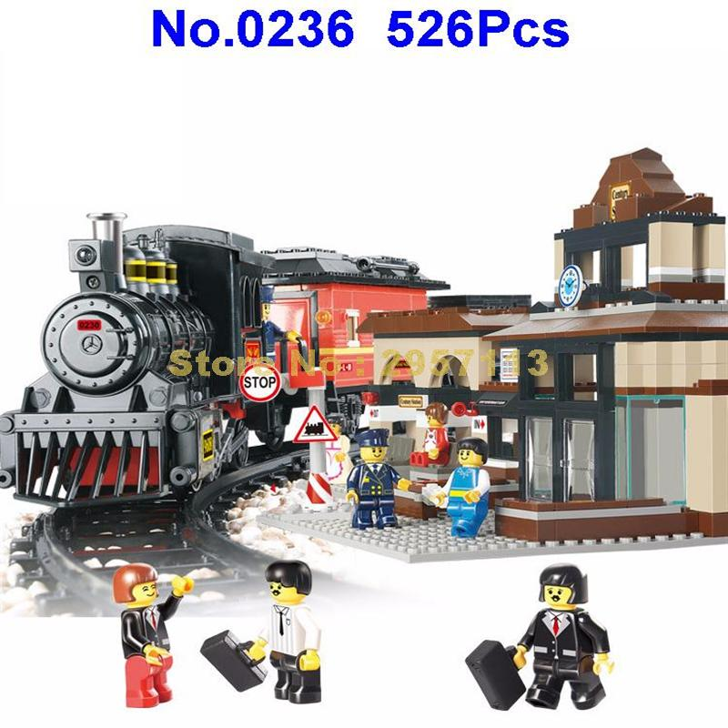 Sluban B0236 526pcs Explorers League Century Train Station Building Block Brick Toy dia 200 20mm carbon graphite round plate graphite stir rod melting gold silver stirring rod graphite for mixing silver