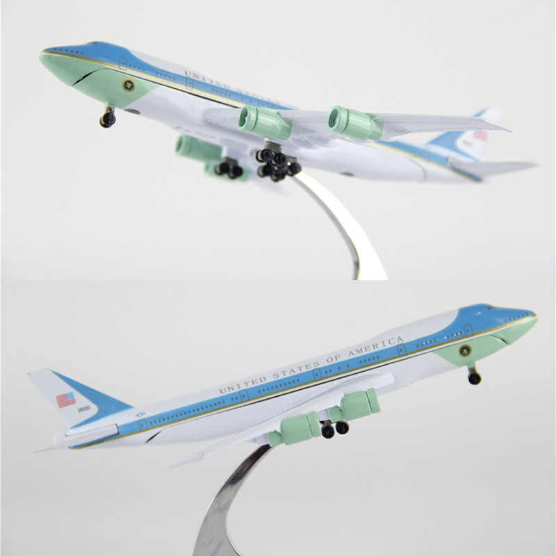 16cm 1 400 Airplane Boeing B747 300 Model Air Force One With Base