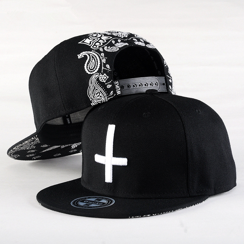 2019 New Brand Street Dance Cool Hip Hop Caps Embroidery Cross Snapback Snap Back Baseball Caps Hats Bone Hat Free Shipping