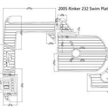 2005 РИНКЕР 232 Плавающая Платформа и кабин EVA искусственный тик настил