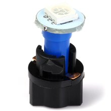 10pcs T5 PC74 SMD 5050 Car LED Twist Socket Instrument Panel Dash Light Bulb with Blue Green White Red Light 0.2W for Vehicle