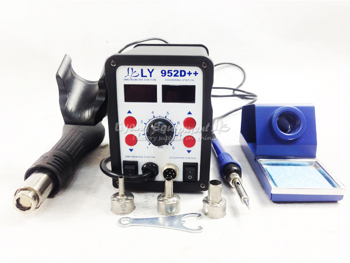 Hot sell Lead-free soldering station LY 952D++ BGA hot air welder lead-free Multi-functional SMD Station 2 in 1 yihua 898d led digital 700w lead free smd desoldering soldering station hot air soldering station