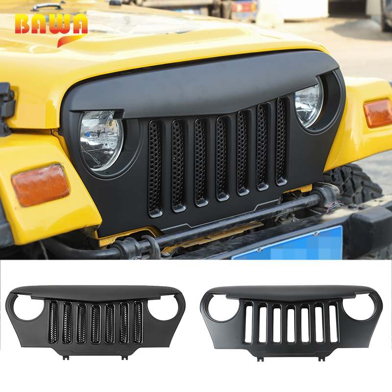 BAWA Racing Grills for Jeep Wrangler TJ 1997 1998 1999 2000 2001 2002 2003 2004 2005