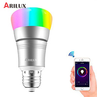 ARILUX Dimmable E27 LED Bulb Light 7W RGBW WIFI Timing APP Controlled LED Smart Light Bulb