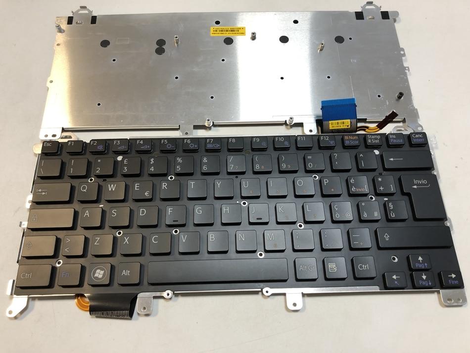 Remplacement de clavier d'ordinateur portable rétro-éclairé italien pour Sony vpc z1 vpcz1 PCG-31113T 31112 T 31111 T sans cadre mise en page rétro-éclairé