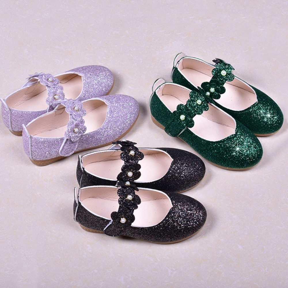 Stylish Toddler Girls Kids Wedding Party Dance Shoes Walking Shoes Sandals US