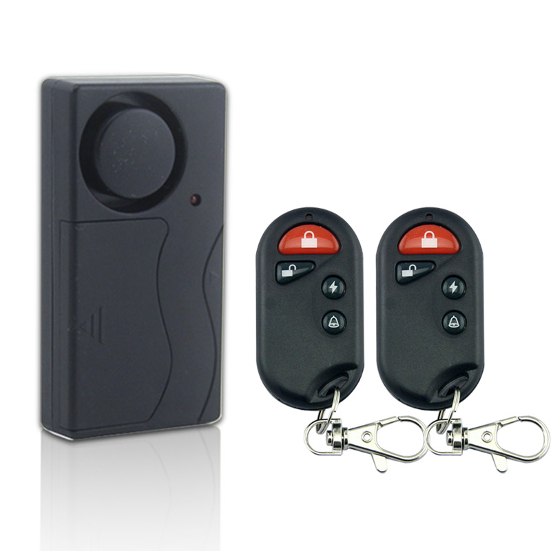 Marlboze <font><b>Wireless</b></font> <font><b>Remote</b></font> <font><b>Control</b></font> 2Pcs <font><b>Vibration</b></font> Alarm Host Bike Electromobile <font><b>Security</b></font> Warning Alarm Window <font><b>Door</b></font> Sensor