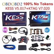 Интернет-мастер Kess V5.017 V2.23 + KTAG V7.020 V2.23 без жетонов ограничить KESS 5.017 + K-TAG k тег 7.020 ЭБУ программист DHL Бесплатная