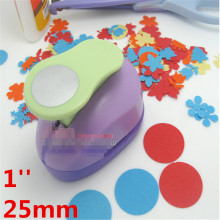 1 ''cercle poinçon 25mm bricolage artisanat trou perforateur pour scrapbooking poinçons eva maker enfants scrapbook papier cutter gaufrage plus net(China)