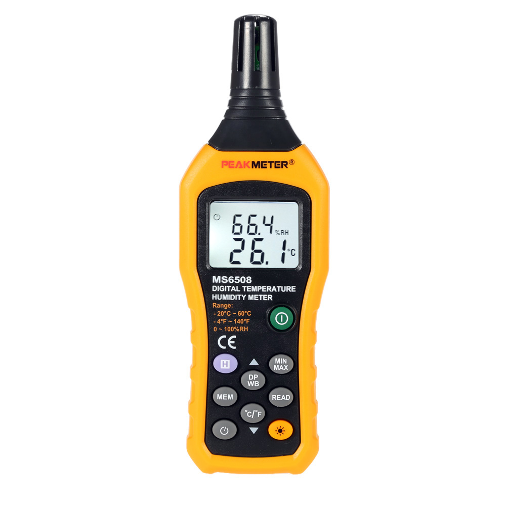 PEAKMETER MS6508 Digital thermometer hygrometer fine Temperature Humidity Meter weather station diagnostic-tool Hygrothermograph weather station digital lcd temperature humidity meter
