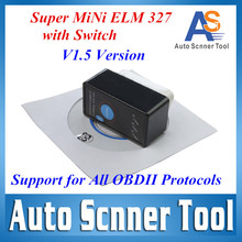 2017 Top Quality Super Mini Bluetooth ELM327 V1.5 OBD 2 With Switch Elm 327 Scanner Tool For Android/PC System(China (Mainland))