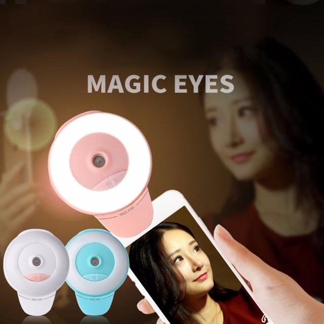 Portátil handheld facial hidratante spray de instrumento de beleza mulheres selfie temporizador fill-in luz spa pulverizador umidificador