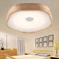 Деревянный светодиодный потолочный светильник деревянный Гостиная теплый кабинет акриловые лампы японский стиль бревна спальня потолочн