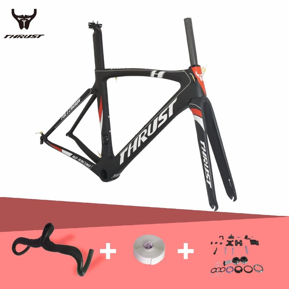 THRUST 저렴한 탄소 프레임 도로 자전거 2017 새로운 프레임 경주 자전거 중국어 탄소 도로 프레임 자전거 T1000 탄소 자전거 프레임