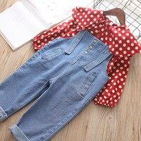 Spring Children Clothing Baby Girl Denim Overalls Adjustable Strap Kids Rompers Long Loose Child Bib Jeans Girls Jumpsuit 3 7T