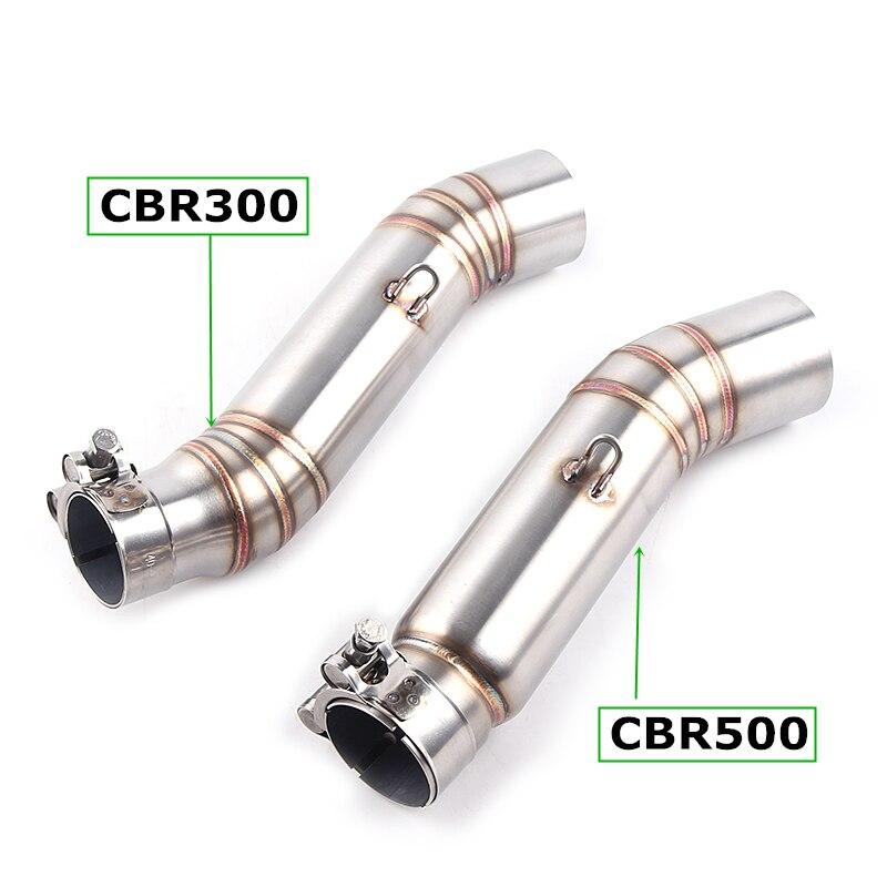 cbr500 CBR250 CBR 500R CBR300 motorcycle exhaust contact middle pipe connector for HONDA CBR500R CBR 300 CBR300 2012 to 2015 bt151 500r to 220