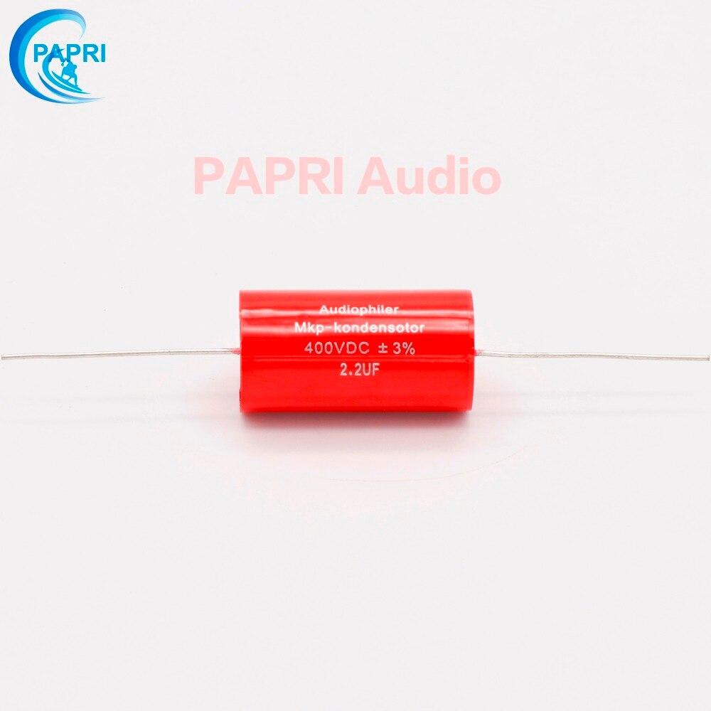 PAPRI Audiophiler ציר MKP 2.2UF 400VDC אודיו קבל קבל - דף הבית אודיו ווידאו