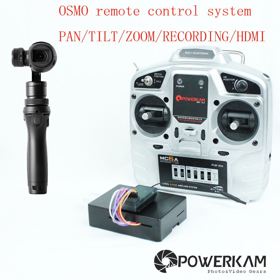 POWERKAM COSMOSTREAMER RC remote control system for DJI osmo series including PAN,TILT,ZOOM,REC,MENU