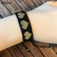Rttooas Handmade MIYUKI Beads Bracelet Love Fashion Women Jewelry Accessories