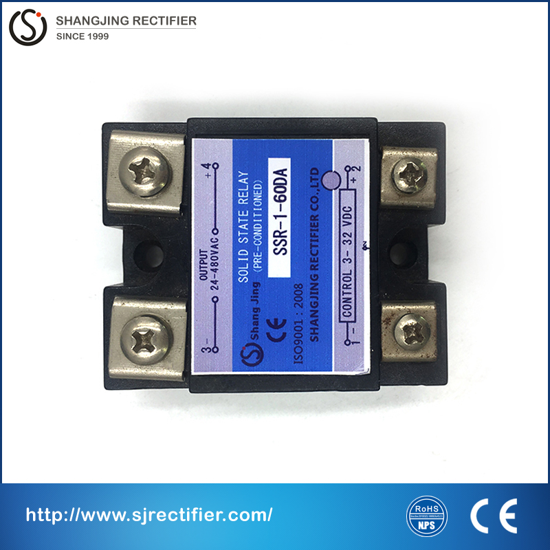 (relay solid state SSR) CE approval good quality low price free shipping current 60A SSR input 3~32VDC output 35~480VAC(DC-AC) free shipping temperature controller 3 32vdc 24 380vac ssr 10a dc ac solid state relay