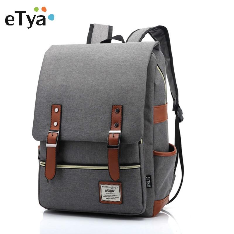 eTya Brand Stylish Travel Large Capacity Backpack Male Luggage Shoulder Bag Computer Backpacking Men Functional Versatile Bags oxford men backpack luggage bag large capacity versatile 2018 new brand for teens travel bag ml1365
