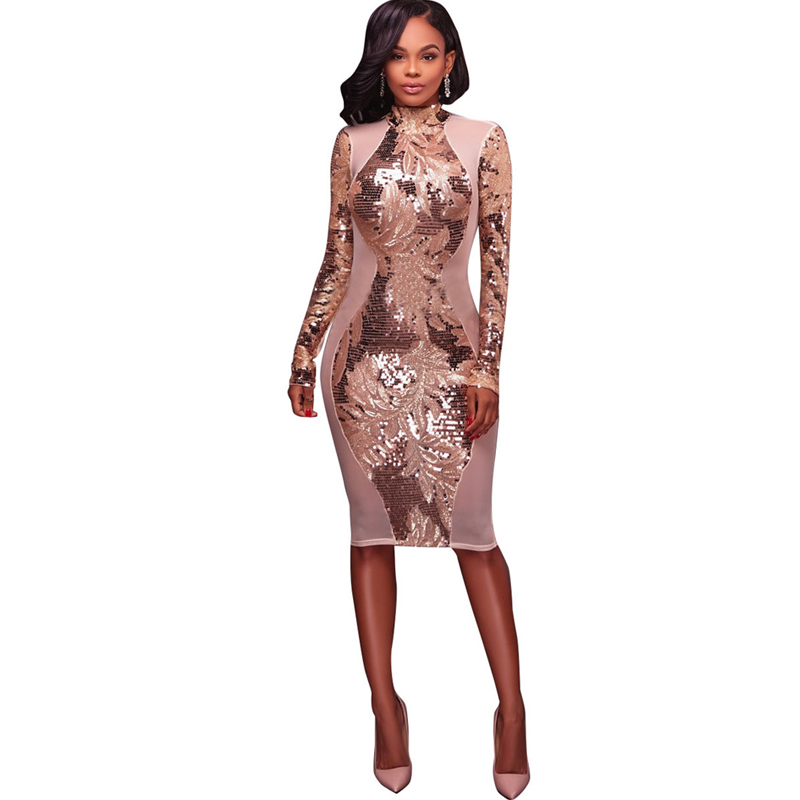 Canada mesh long patchwork bodycon dresses sleeve knee