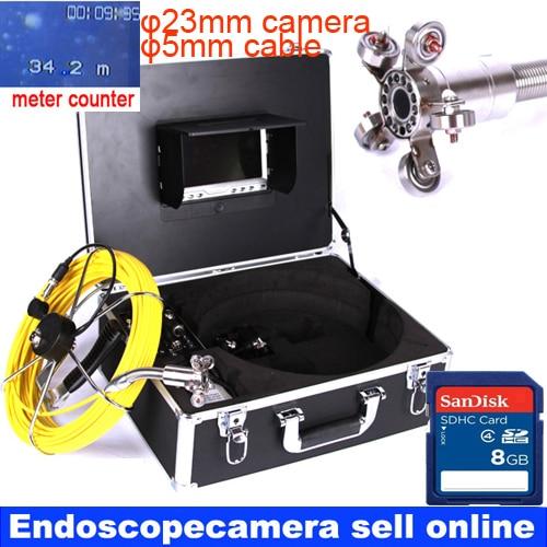 Портативный Змея видео эндоскопа камера трубы слива канализационных скважин стены Подводные камеры системы мониторы 40 м кабель Xmas