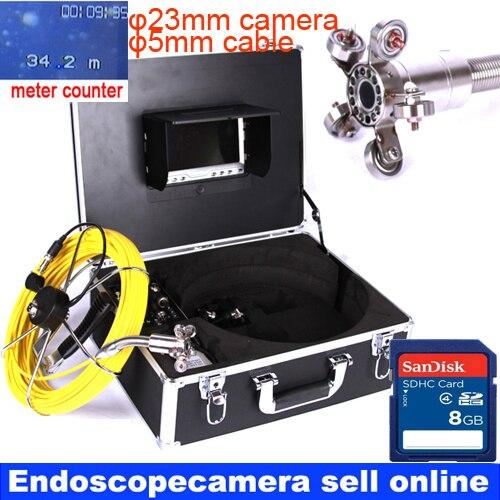 Portátil serpiente de vídeo del endoscopio cámara de drenaje de alcantarillado bueno pared Inspección submarina Cámara Monitor de sistema 40 m de Cable de Navidad