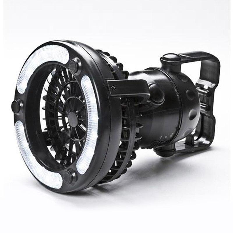 Portable LED Lanterna di Campeggio con Ventilatore A Soffitto-in Combo 18 Super Luminoso LED Light CLH @ 8