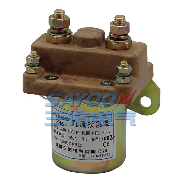 SAYOON SZ10-150 150A contactor DC 12V contactor used for electric vehicles, engineering machin sayoon dc 12v contactor czwt150a contactor with switching phase small volume large load capacity long service life